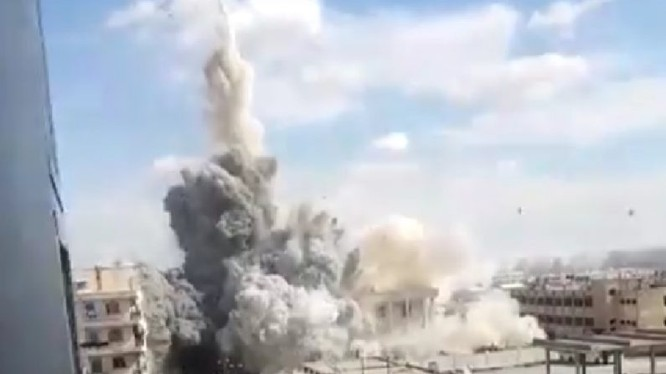 Không quân Nga sử dụng bom xuyên bê tông hạng nặng tấn công khủng bố ở Idlib - ảnh minh họa video