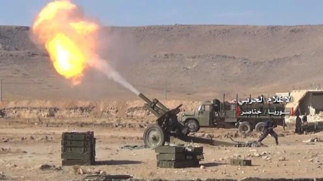 Pháo binh NDF tấn công vị trí của Thổ Nhĩ Kỳ. ảnh minh họa Muraselon