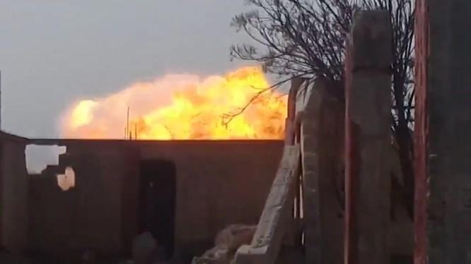 Xe quét mìn UR -- 77 dọn đường cho cuộc tấn công của quân đội Syria - ảnh minh họa video