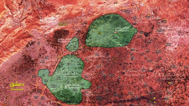 Quân đội Syria giải phóng đến 70 phần trăm diện tích Đông Ghouta - ảnh minh họa Muraselon