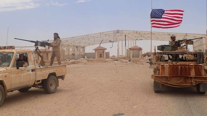 Căn cứ quân sự Mỹ, nơi tập trung các nhóm Hồi giáo cực đoan do Lầu Năm Góc hậu thuẫn ở As - Tanf, Syria - Iraq. Ảnh minh họa South Front