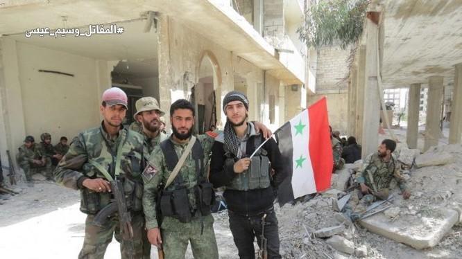 Binh sĩ quân đội Syria trên chiến trường thị trấn Kafr Batna - ảnh minh họa Muraselon