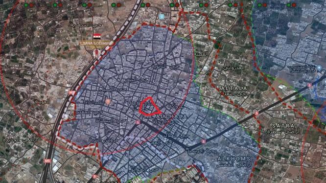 Khu vực quận Harasta, chuẩn bị chuyển quyền kiểm soát cho quân đội Syria - ảnh South Front