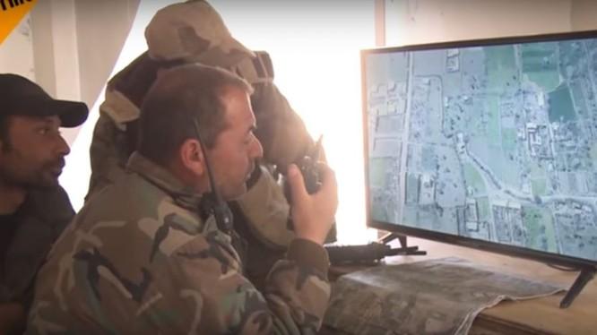 Video sở chỉ huy tiền phương quân đội Syria=ảnh minh họa video