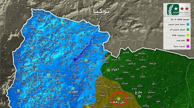 Tình hình chiến sự Afrin tính đến ngày 23.03.2018, ảnh South Front