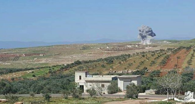 Không quân Nga không kích tỉnh Idlib - ảnh minh họa video