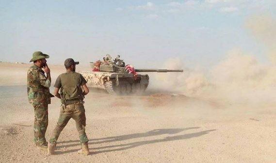 Binh sĩ quân đội Syria trên chiến trường Deir Ezzor - ảnh minh họa Masdar News