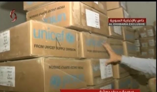 Kho thuốc của lực lượng Hồi giáo cực đoan, có nguồn gốc từ UNICEF ở Đông Ghouta