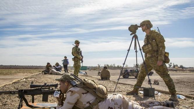Quân nhân Mỹ huấn luyện ở khu vực thị trấn As - Tanf, Syria. Ảnh minh họa RFS