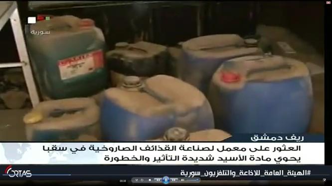 Thùng a xít được phát hiện ở thị trấn Sabqa, Đông Ghouta