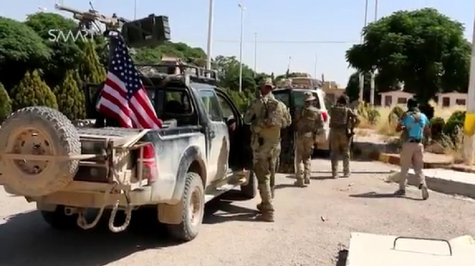 Lính Mỹ ở miền bắc Syria, gần thành phố Manbij
