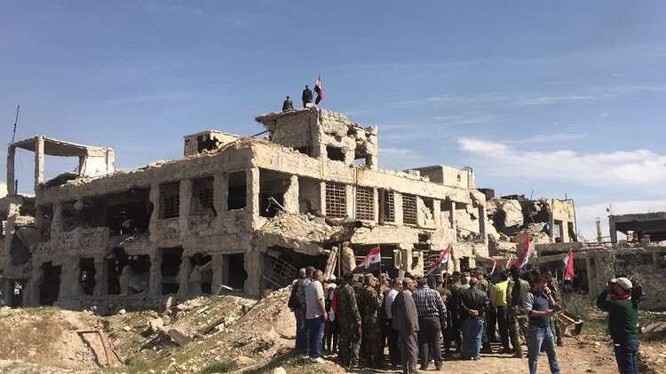 Quận Jobar giải phóng - ảnh minh họa Masdar News