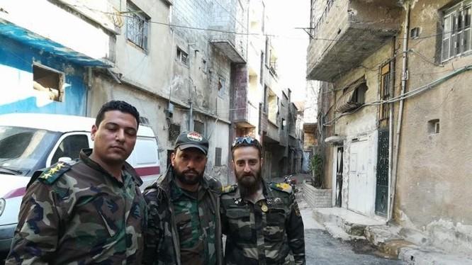 Binh sĩ lực lượng quân tình nguyện Liwaa Al-Quds ở Damascus. ảnh minh họa South Front