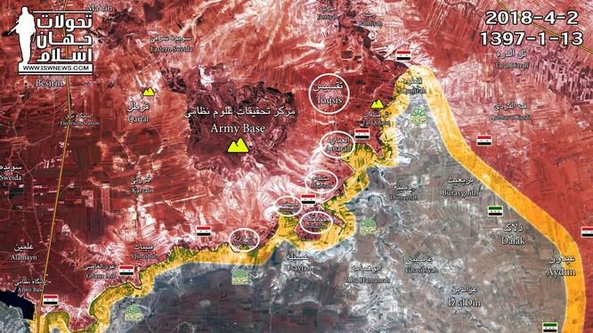 Tình hình chiến sự vùng Rasat, miền bắc tỉnh Hama và phía đông bắc tỉnh Homs, ảnh minh họa Muraselon