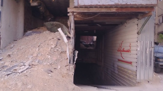 Bệnh viện hầm ngầm dã chiến cửa lực lượng Hồi giáo ở Đông Ghouta - ảnh minh họa video SANA