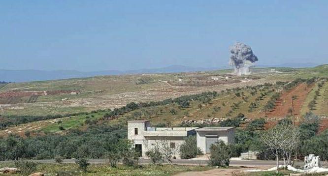 Không quân Nga không kích ở vùng biên giới Thổ Nhĩ Kỳ - Syria.. ảnh munh họa Muraselon