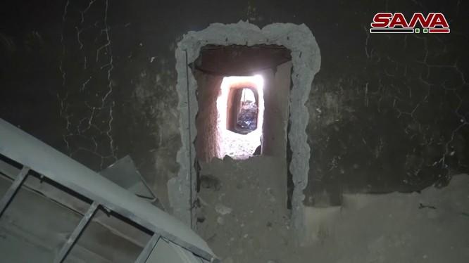 Đường hầm ngầm bí mật ơ Đông Ghouta - ảnh minh họa video SANA