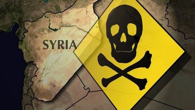 Vũ khí hóa học ở Douma,Đông Ghouta, ngoại ô Damascus, anh minh họa Masdar News