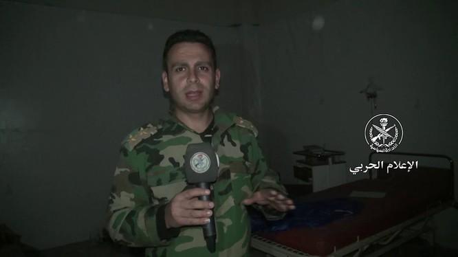 Quân đội Syria giới thiệu nhà máy vũ khí ở Đông Ghouta - ảnh minh họa video