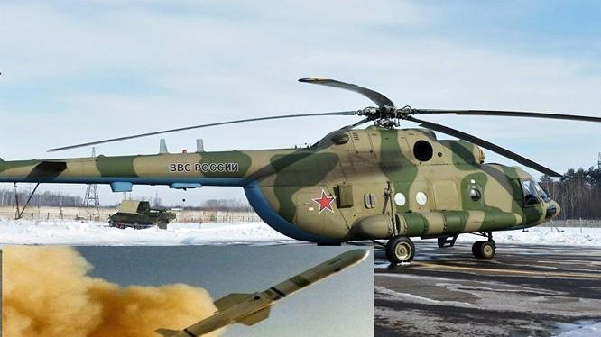 Máy bay trực thăng Mi-8 mang hệ thống tác chiến điện tử Rychag - AV . ảnh minh họa trang DEBKA file
