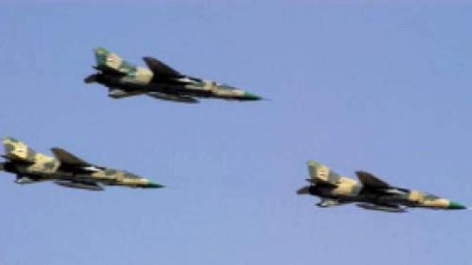 Không quân Syria - Nga không kích lực lượng Hồi giáo cực đoan ở Hama - Idlib. Ảnh minh họa Masdar News