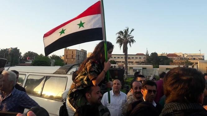Thành phố Damascus 35 phút sau cuộc không kích - ảnh -video Syrian Digital Media