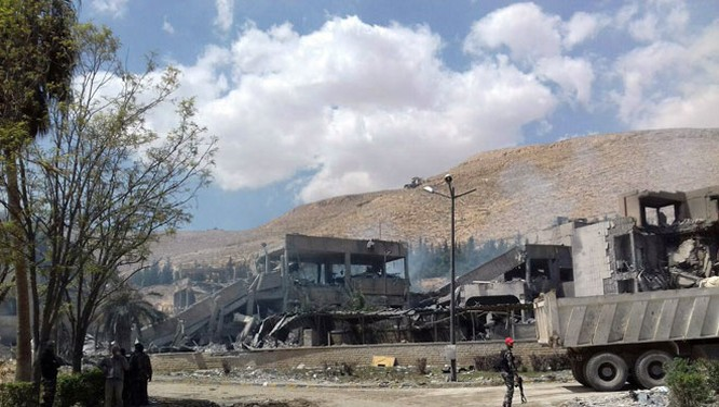 Một trong những vị trí bị không kích ở Syria - ảnh minh họa Muraselon