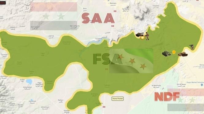 Chiến trường khu vực Rastan, phía Bắc tỉnh Homs, Anh minh họa đối lập Syria