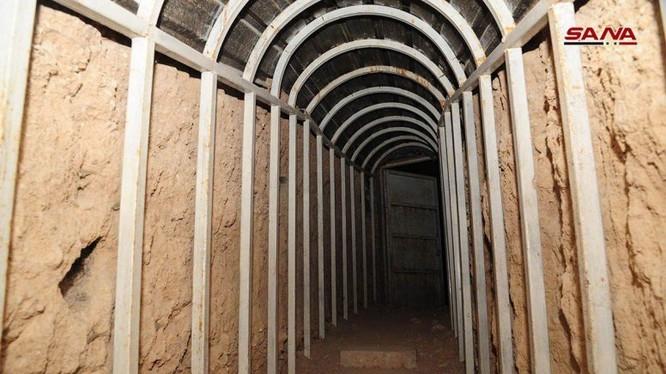 Đường hầm nhà tù khủng khiếp nhất trong lich sử ở Đông Ghouta. Anh minh họa của SANA.