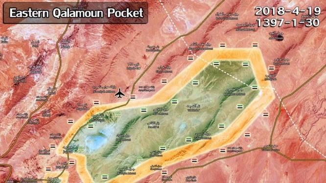 Các mũi tiến công của quân đội Syria. chủ công là su đoàn Tiger trên khu vực chiến trường Qalamoun- ảnnh minh họa South Fromt