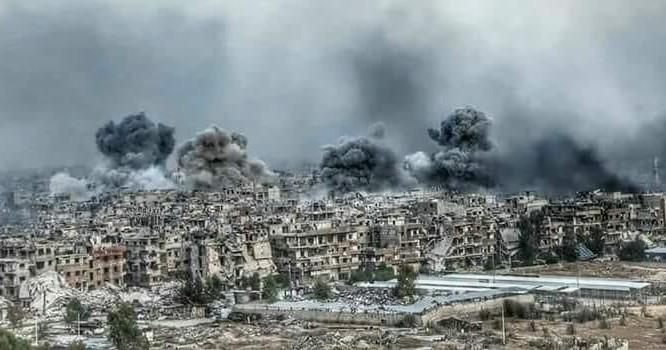 Pháo binh,tên lửa quân đội Syria tấn công trại Yarmouk - ảnh mịnh họa Muraselon