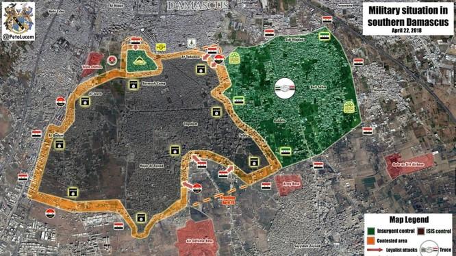 Chiến trường các quận phía nam thành phố Damascus - ảnh minh họa South Front