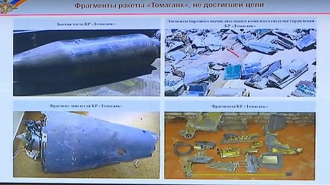 Các mảnh vỡ tên lửa ở Syria - ảnh minh họa Bộ quốc phòng Nga