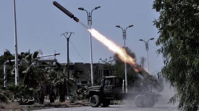 Quân đội Syria pháo kích vào trại Yarmouk, ảnh minh hoak từ video