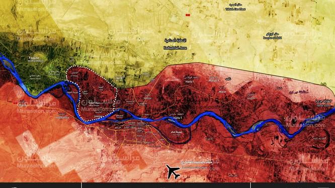 Những ngôi làng quân đội Syria giải phóng từ lực lượng SDF.Ảnh Muraelon