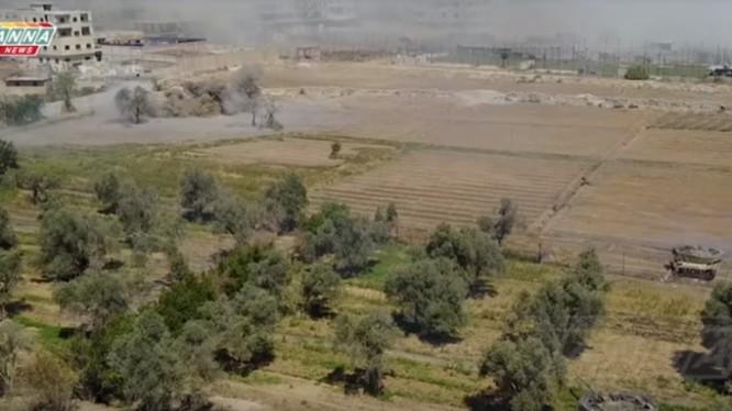 Chiến trường khu vực Trại tj nạn Yarrmouk. Ảnh minh họa ANNA News.