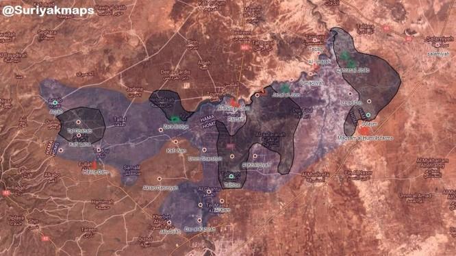 Bản đồ khu vực nổi dậy Rastan, ảnh South Front