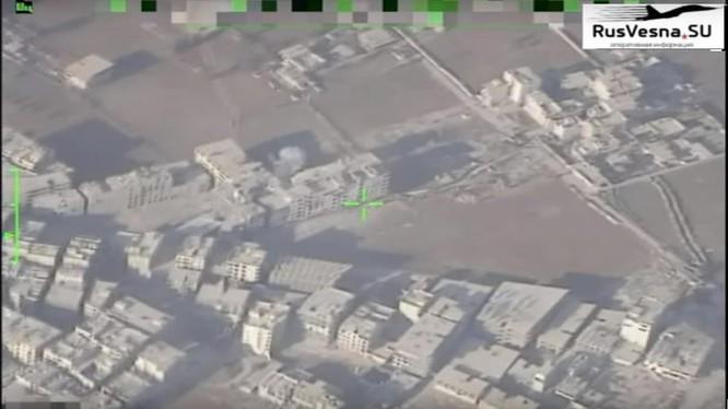 Máy bay trinh sat không người lái Nga theo dõi các mục tiêu IS ở quận Yarmouk. Ảnh minh họa Rusvesna