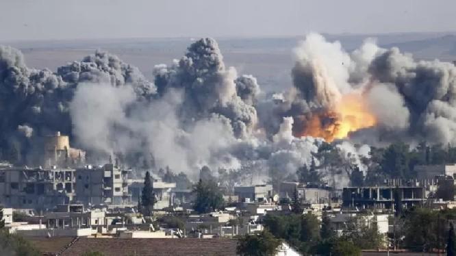 Không quân Nga không kích Hama. Ảnh minh họa