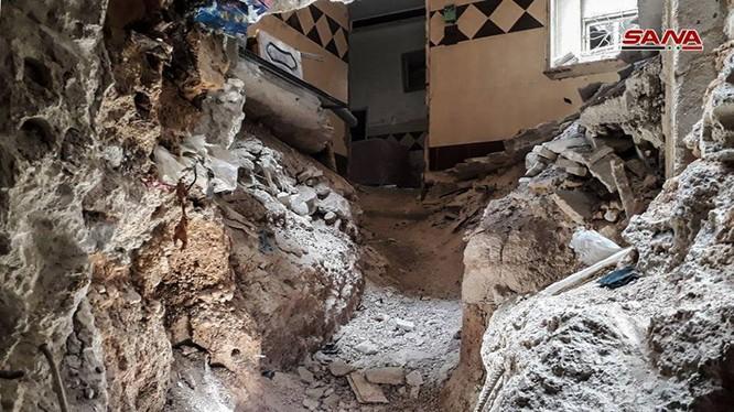 Hầm hào giao thông của IS trong khu vực Yarmouk. ảnh minh họa SANA