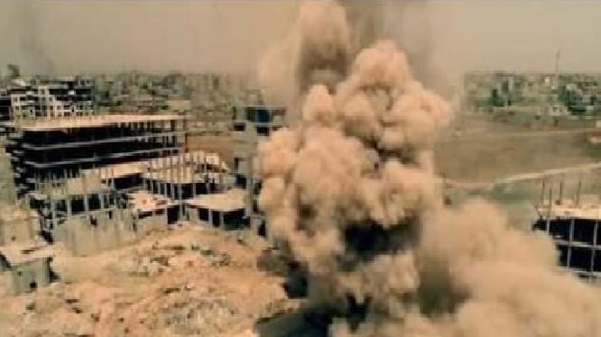 Quân đội Syria tiến công vào quận Yarmouk từ quận Hajar quận Al-Aswad. anh minh họa video Ruptly