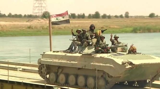quân đội Syria ở Deir Ezzor. Ảnh minh họa Masdar News