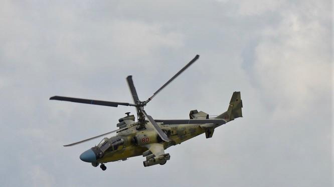 Trực thăng Ka-52 trên không phận Syria, ảnh minh họa Masdar News