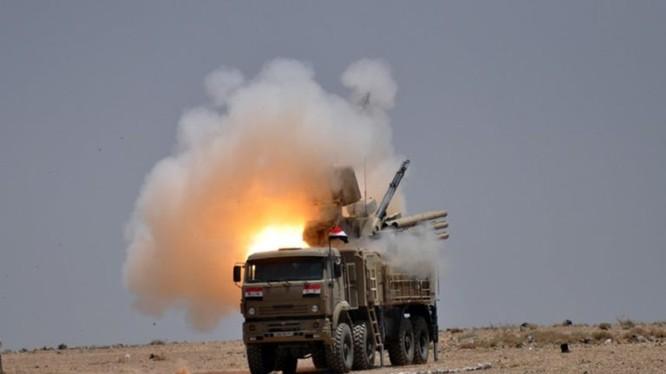 Tổ hợp pháo phản tên lửa phòng không Pantsir-1S Syria, ảnh miinh họa South Front