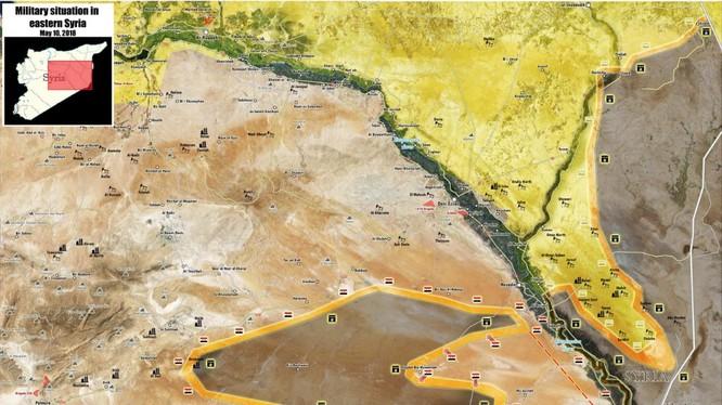 Tình hình chiến sự Deir Ezzor tính đến ngày 12.0.2018 theo South Front