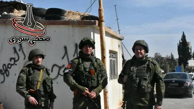 Quân cảnh Nga trong khu vực ngoại ô Damasus. Anh minh họa Masdar News