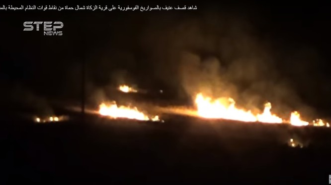 Không quân NGa không kích trên vùng ngoại ô Damascus. ảnh minh họa video