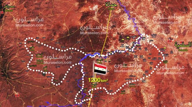 Toàn bộ khu vực Rastan phía bắc tỉnh Homs hoàn toàn giải phóng. Ảnh Murasalon