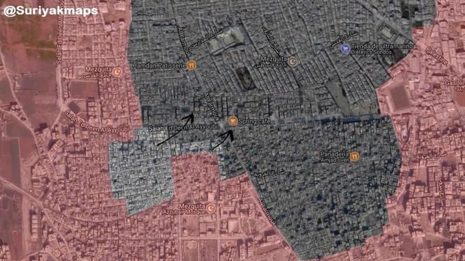 Một phần tình huống quận Trại tị nạn Yarmouk. Ảnh South Front