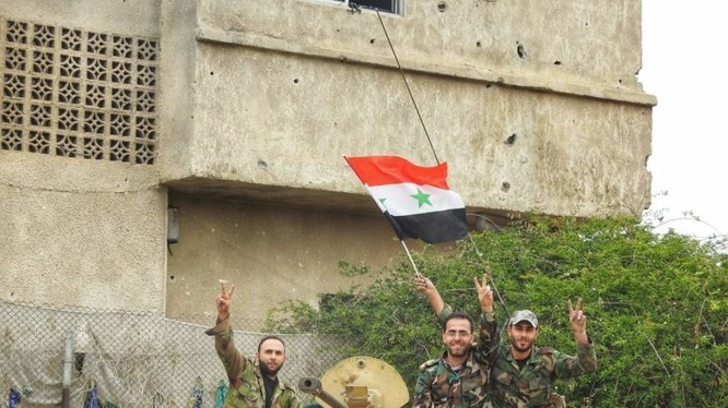 Quân đội Syria tren chiến trường Yarmouk